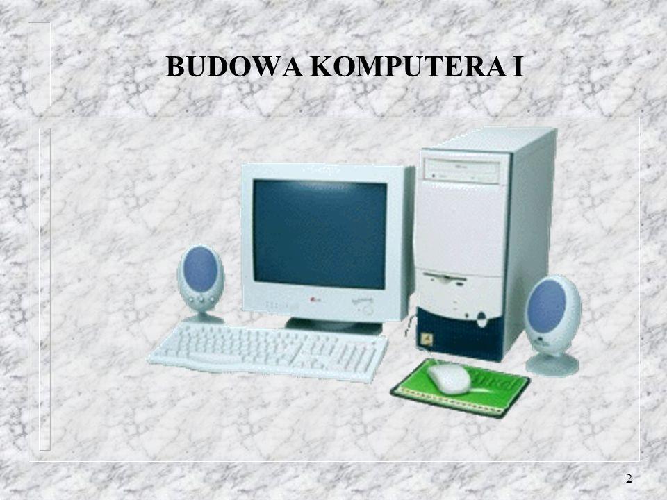 BUDOWA KOMPUTERA I