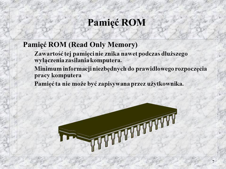 Pamięć ROM Pamięć ROM (Read Only Memory)