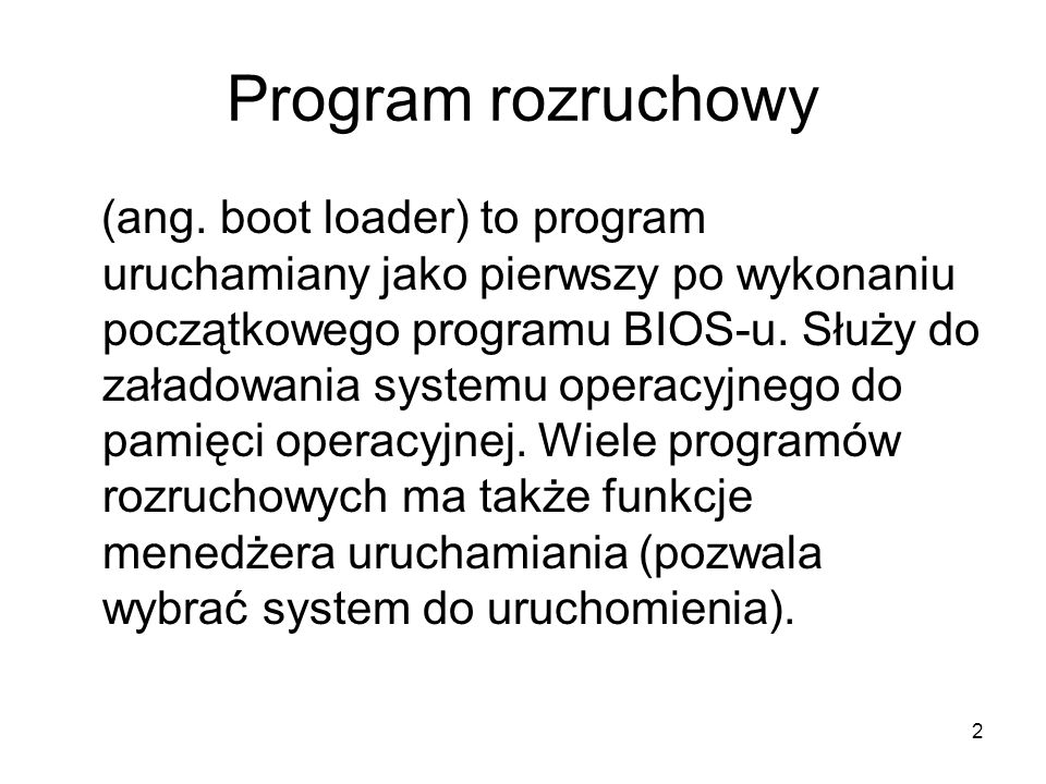 Program rozruchowy