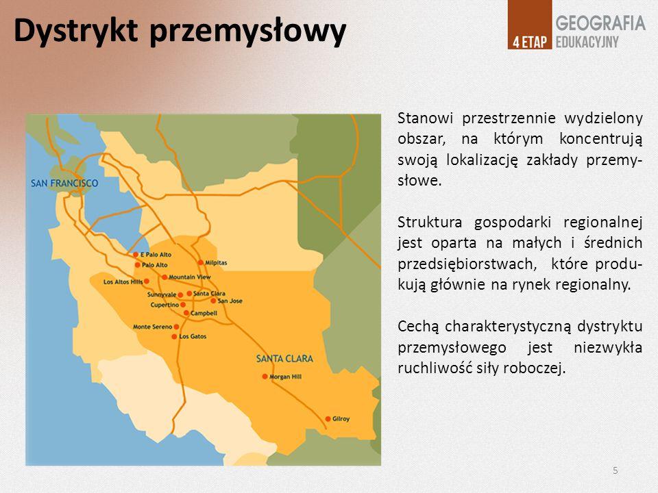 Dystrykt przemysłowy Stanowi przestrzennie wydzielony obszar, na którym koncentrują swoją lokalizację zakłady przemy- słowe.