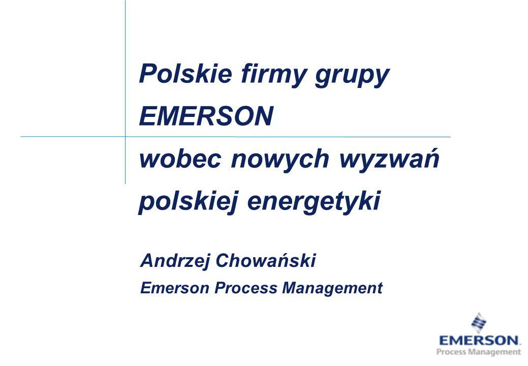 Polskie firmy grupy EMERSON wobec nowych wyzwań polskiej energetyki