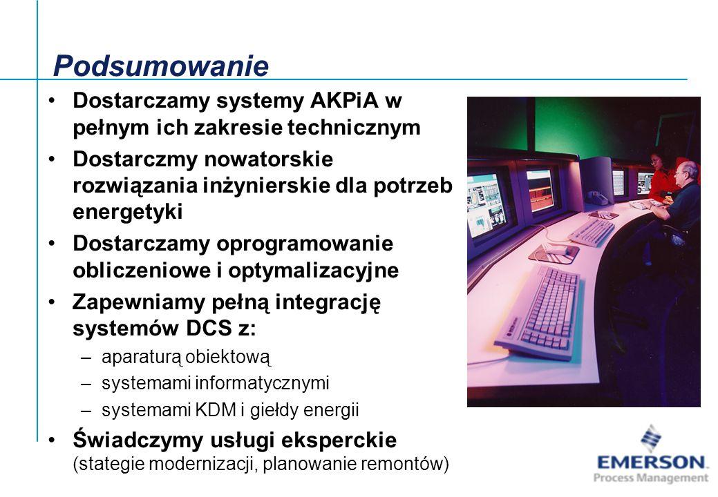 Podsumowanie Dostarczamy systemy AKPiA w pełnym ich zakresie technicznym. Dostarczmy nowatorskie rozwiązania inżynierskie dla potrzeb energetyki.