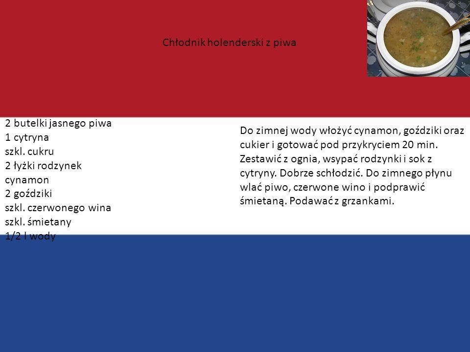Chłodnik holenderski z piwa