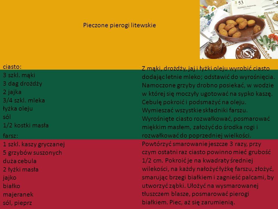 Pieczone pierogi litewskie
