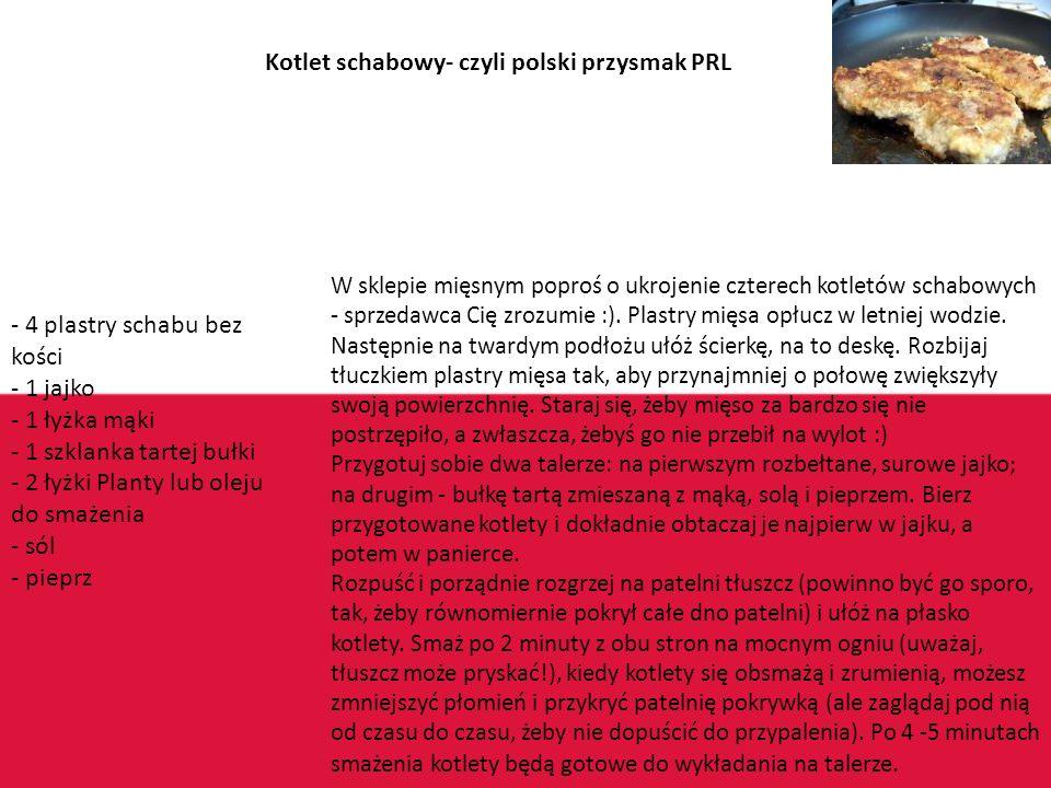 Kotlet schabowy- czyli polski przysmak PRL