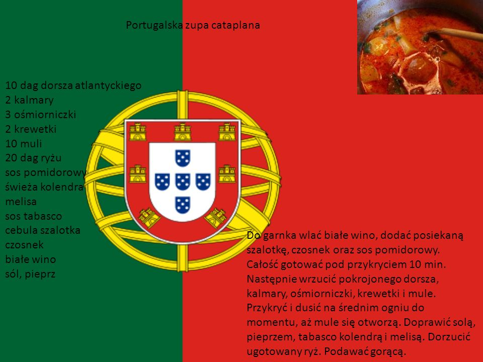 Portugalska zupa cataplana
