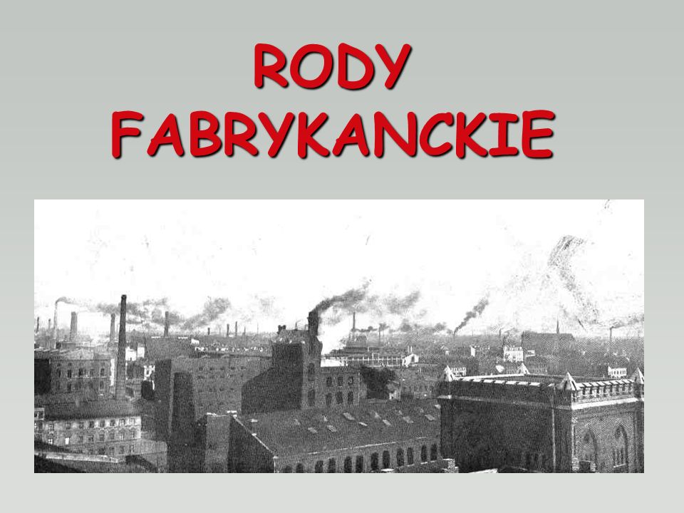 RODY FABRYKANCKIE