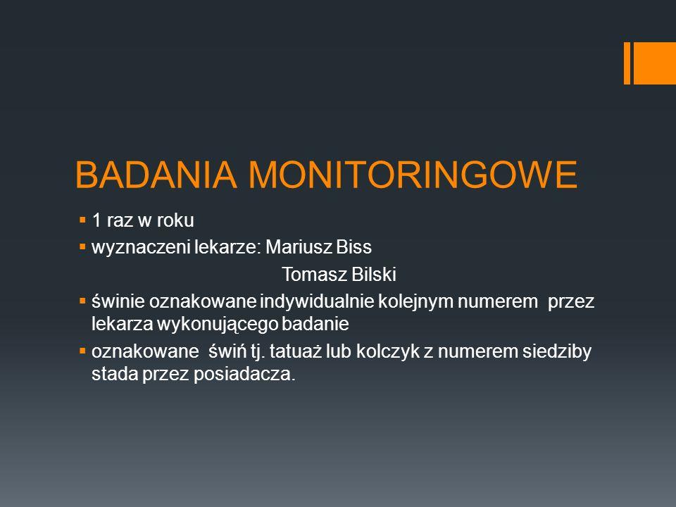 BADANIA MONITORINGOWE
