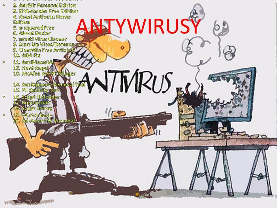 ANTYWIRUSY 1. AVG Antivirus Free Edition