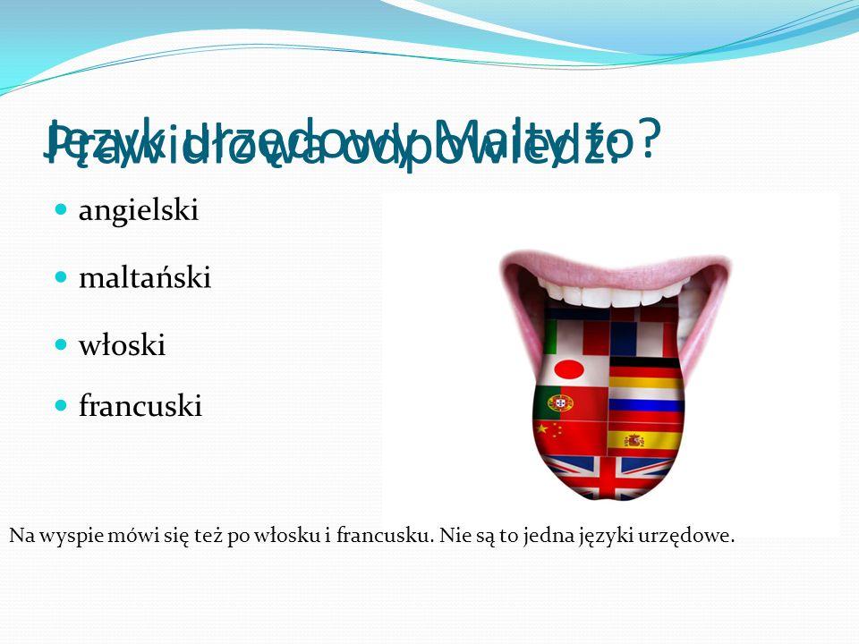 Język urzędowy Malty to