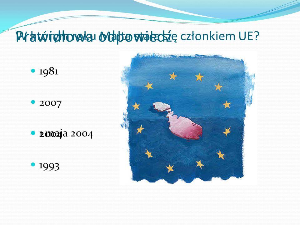 W którym roku Malta stała się członkiem UE