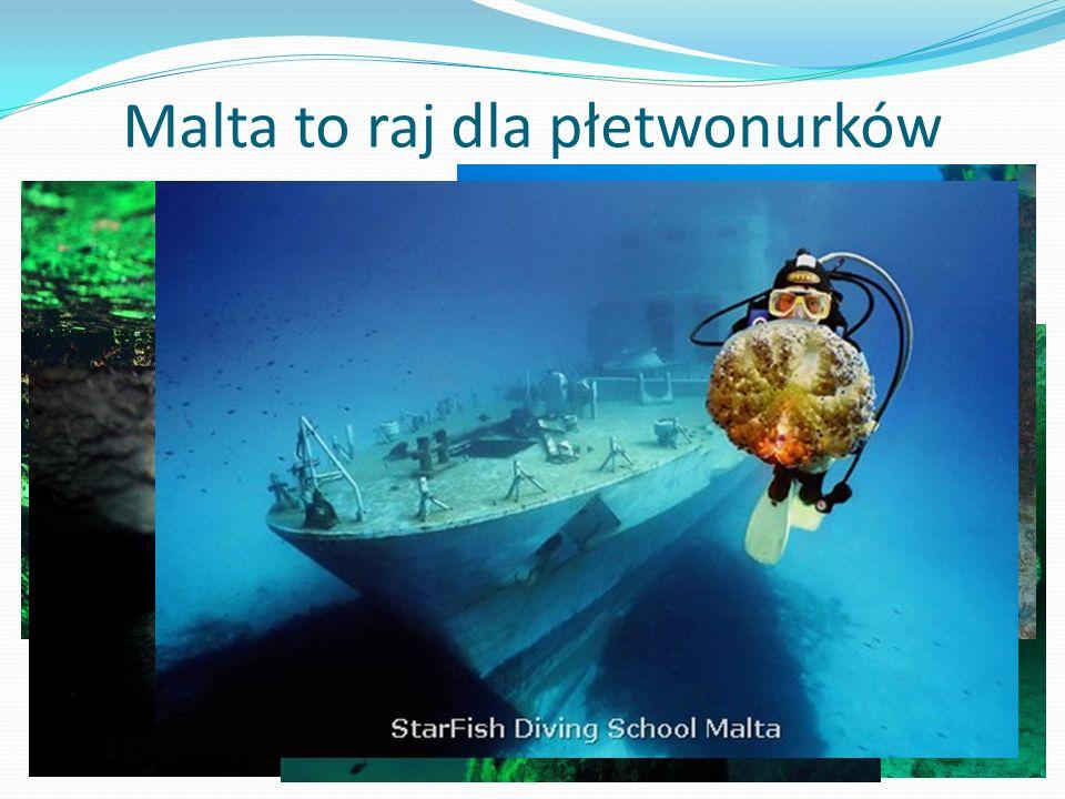 Malta to raj dla płetwonurków