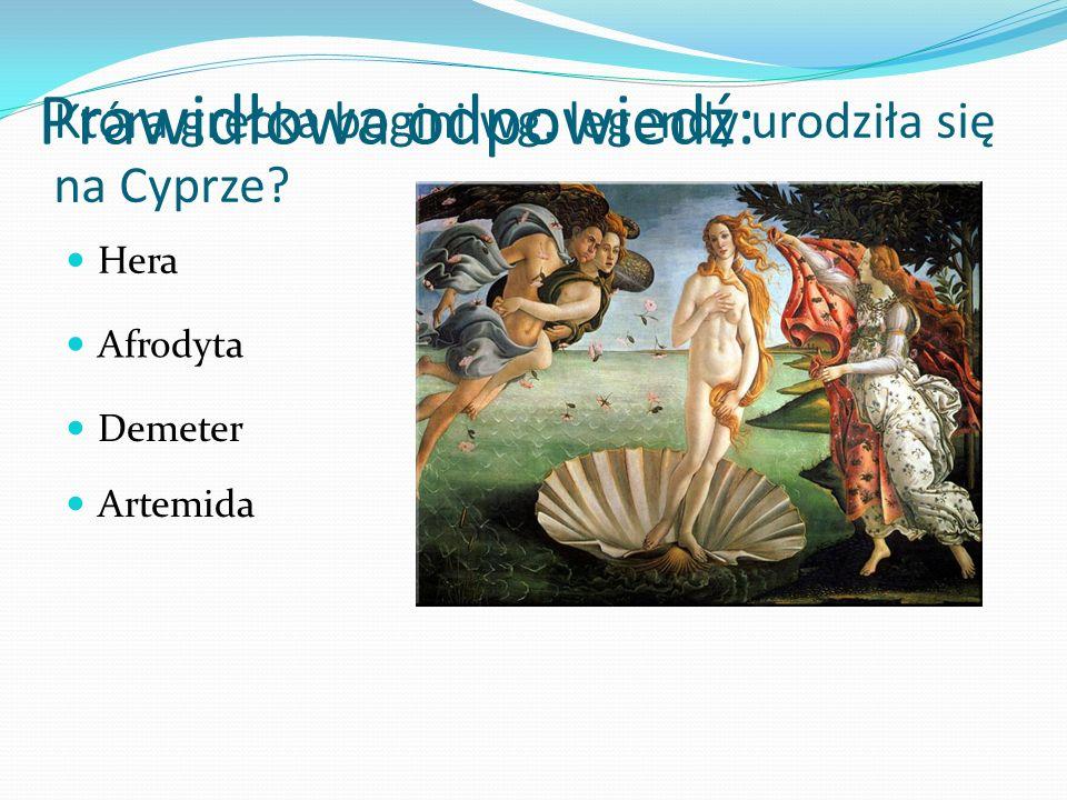 Która grecka bogini wg. legendy urodziła się na Cyprze