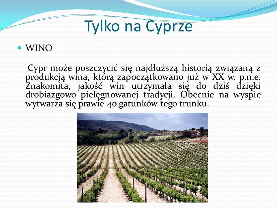 Tylko na Cyprze WINO.