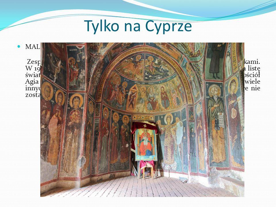 Tylko na Cyprze MALOWANE CERKWIE W REGIONIE TROODOS