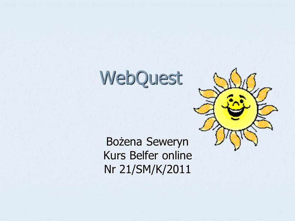 Bożena Seweryn Kurs Belfer online Nr 21/SM/K/2011