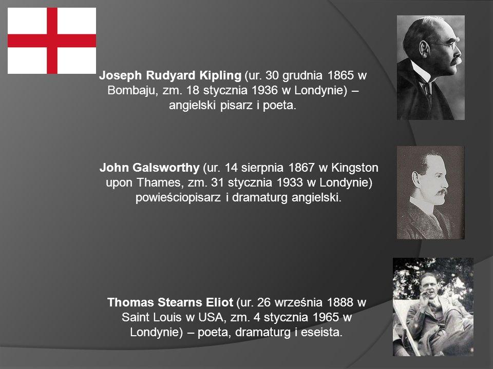Joseph Rudyard Kipling (ur. 30 grudnia 1865 w Bombaju, zm