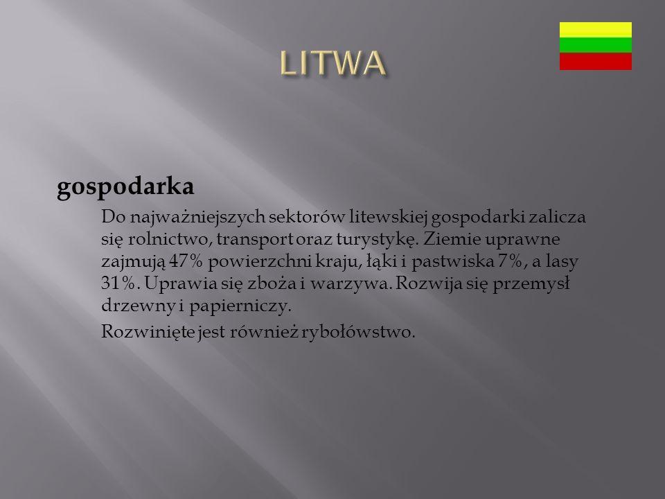 LITWA gospodarka.