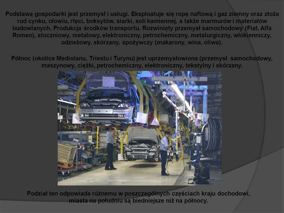 Podstawą gospodarki jest przemysł i usługi