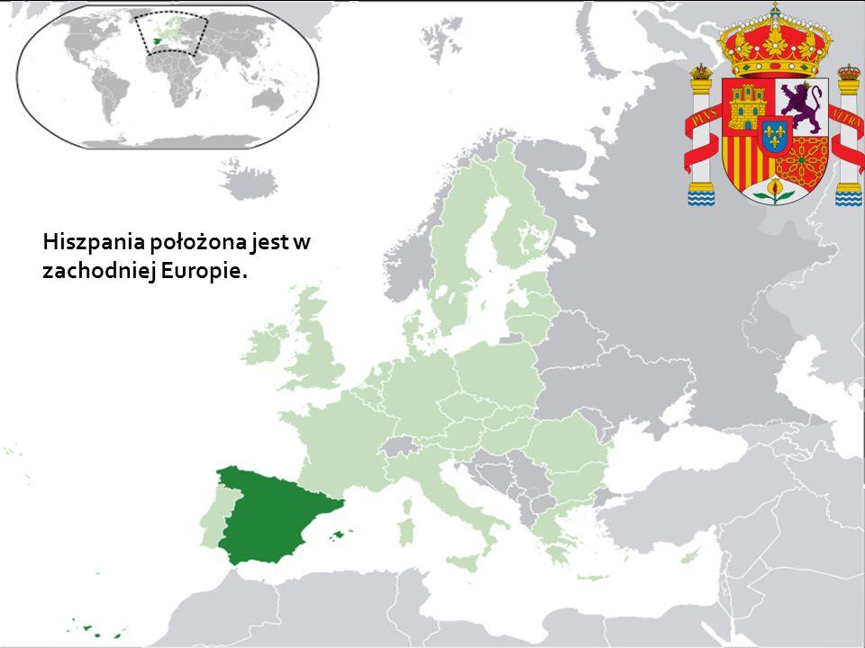 J Hiszpania położona jest w zachodniej Europie.
