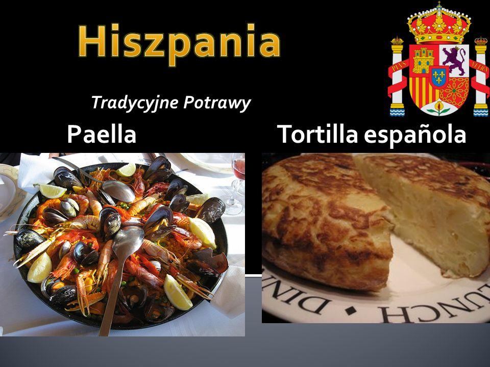 Hiszpania Tradycyjne Potrawy Paella Tortilla española