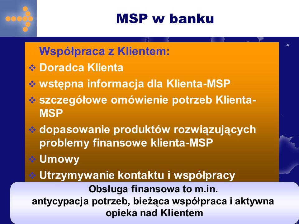 MSP w banku Współpraca z Klientem: Doradca Klienta