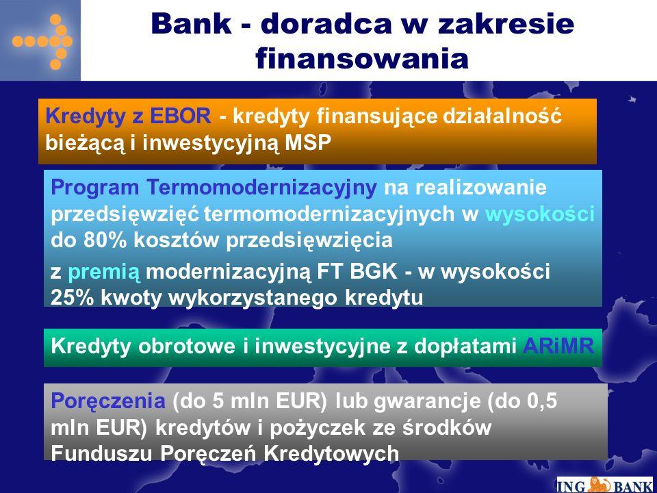 Bank - doradca w zakresie finansowania