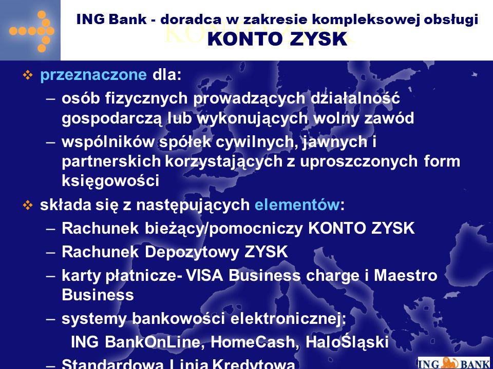 ING Bank - doradca w zakresie kompleksowej obsługi