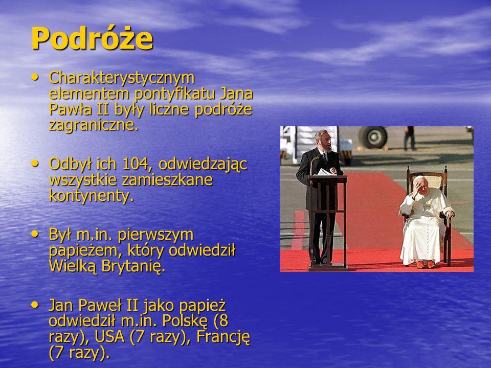 Podróże Charakterystycznym elementem pontyfikatu Jana Pawła II były liczne podróże zagraniczne.