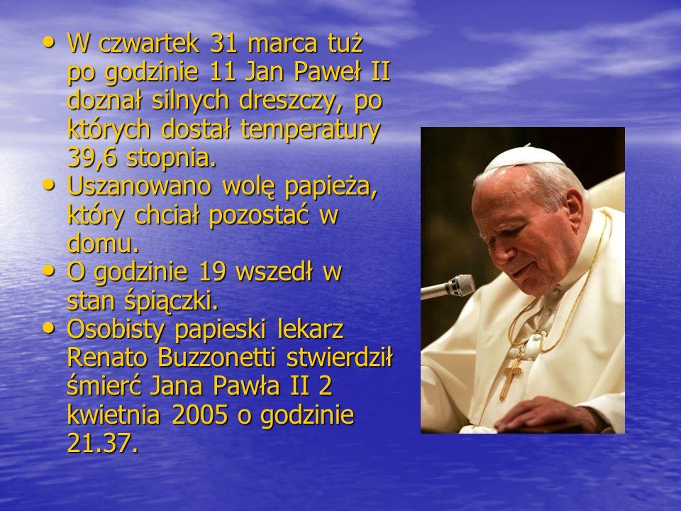 Uszanowano wolę papieża, który chciał pozostać w domu.