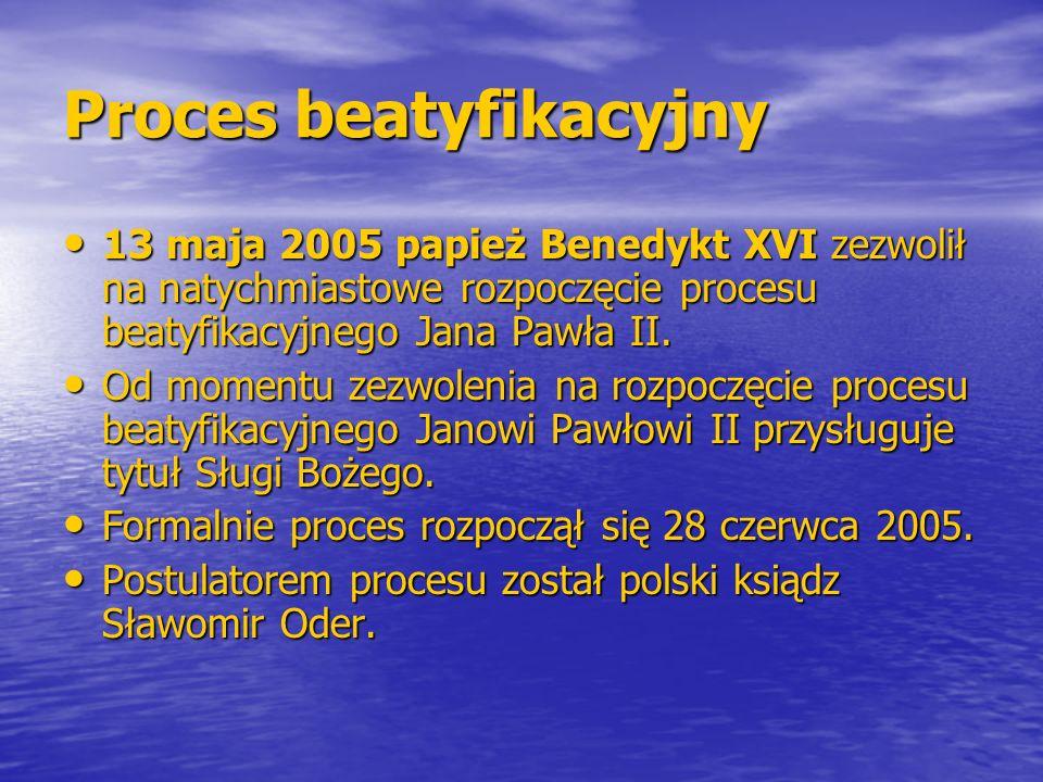 Proces beatyfikacyjny