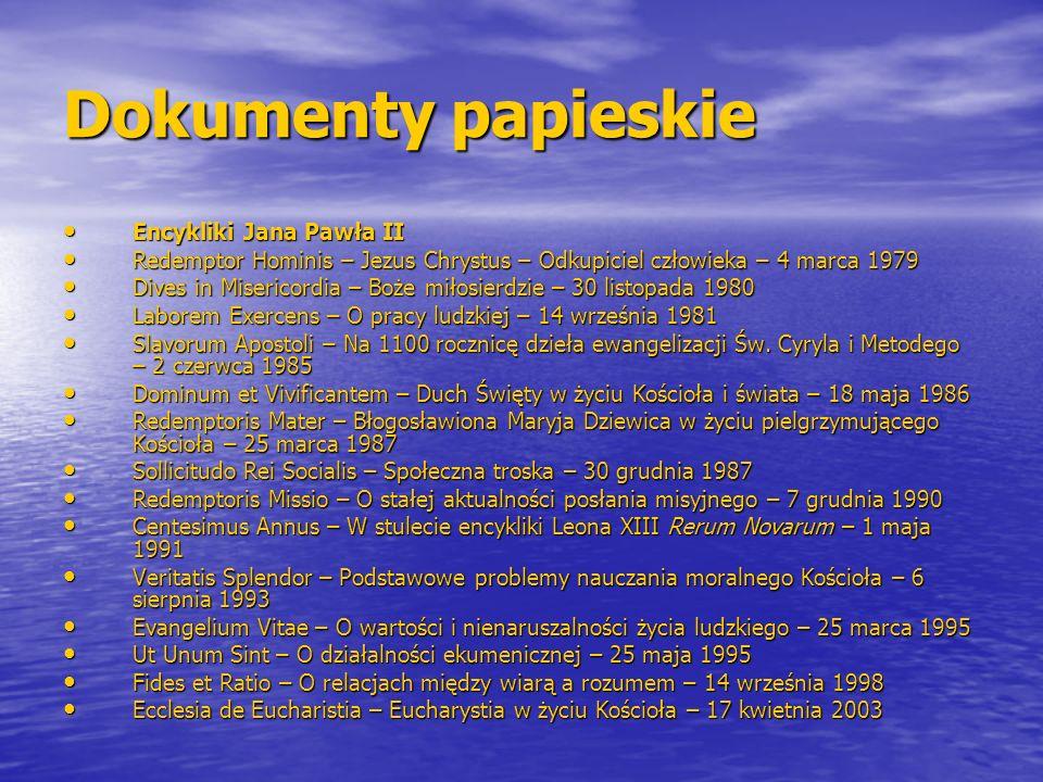 Dokumenty papieskie Encykliki Jana Pawła II