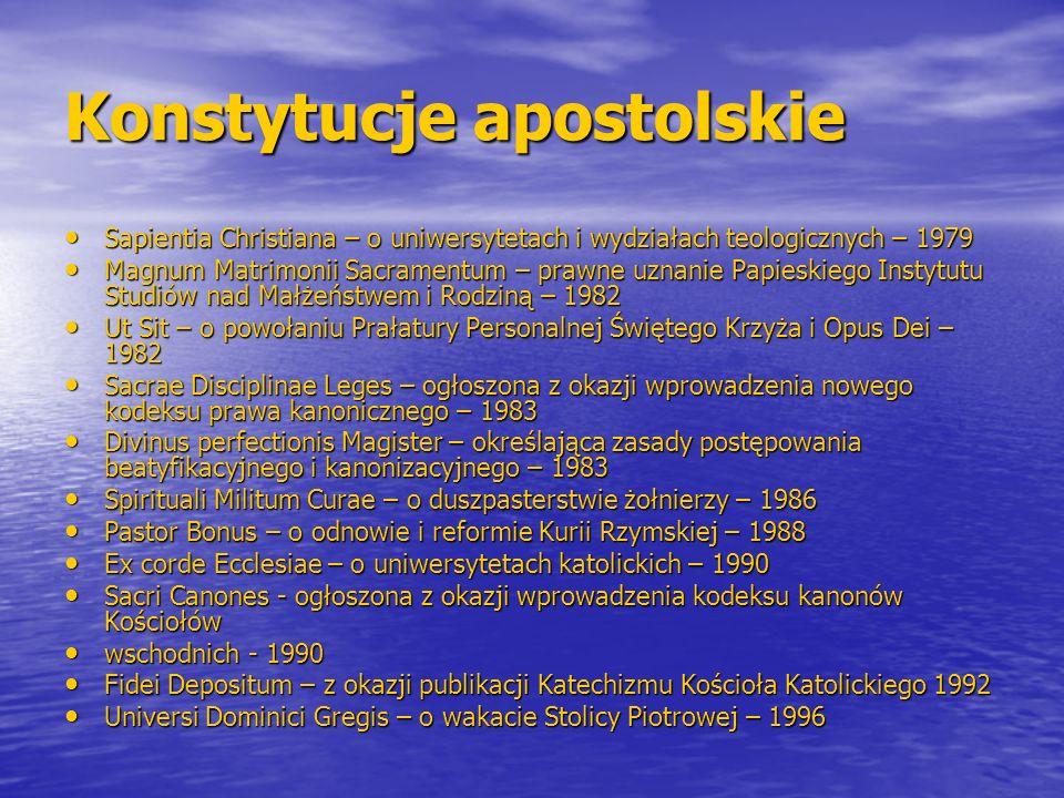 Konstytucje apostolskie