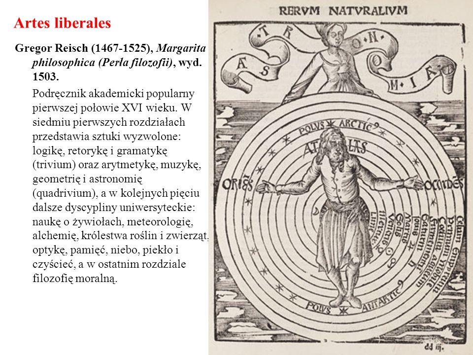 Artes liberales Gregor Reisch (1467-1525), Margarita philosophica (Perła filozofii), wyd. 1503.
