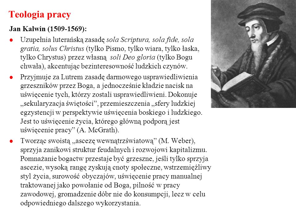 Teologia pracy Jan Kalwin (1509-1569):