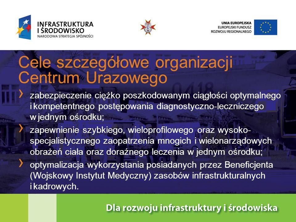 Cele szczegółowe organizacji Centrum Urazowego