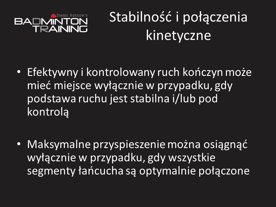 Stabilność i połączenia kinetyczne