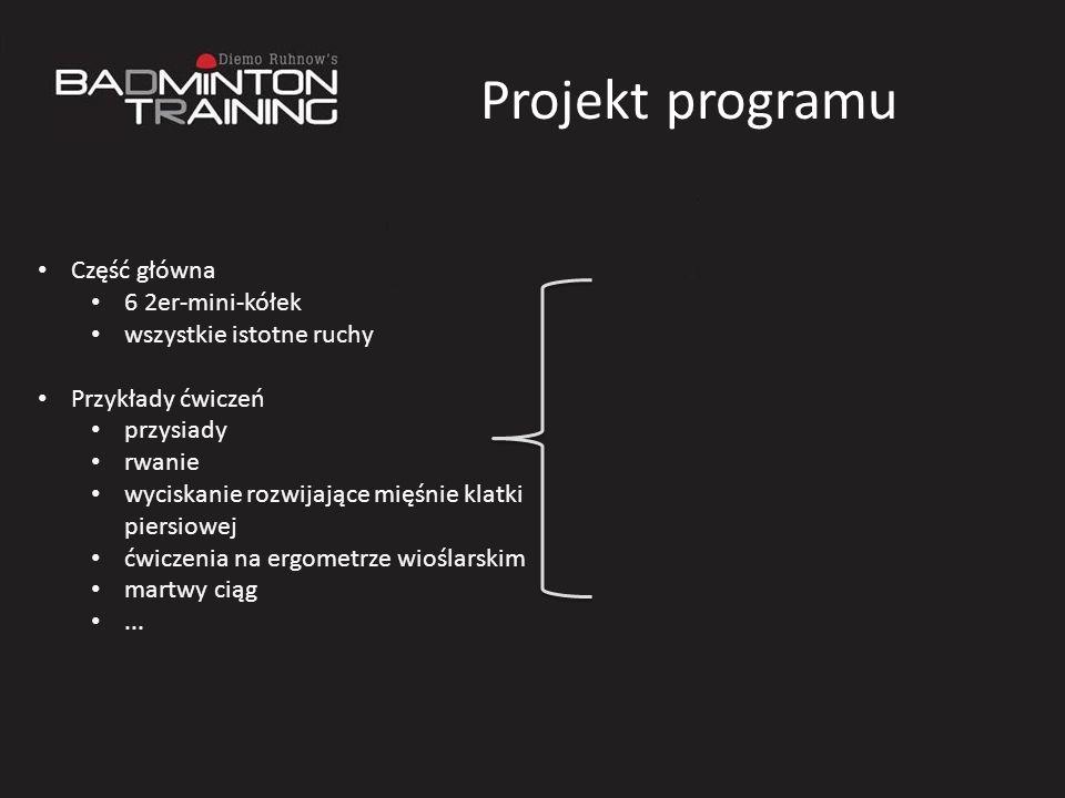 Projekt programu Część główna 6 2er-mini-kółek wszystkie istotne ruchy
