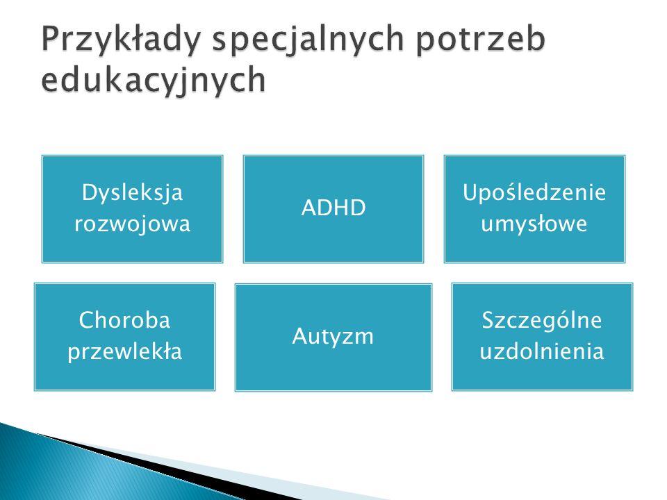 Przykłady specjalnych potrzeb edukacyjnych