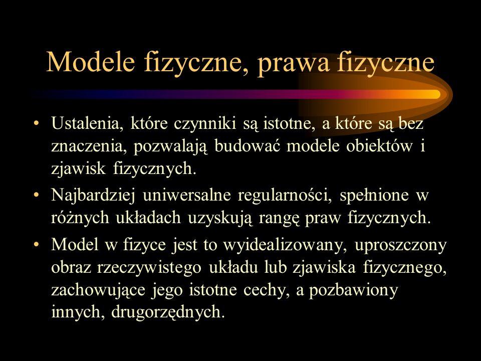 Modele fizyczne, prawa fizyczne