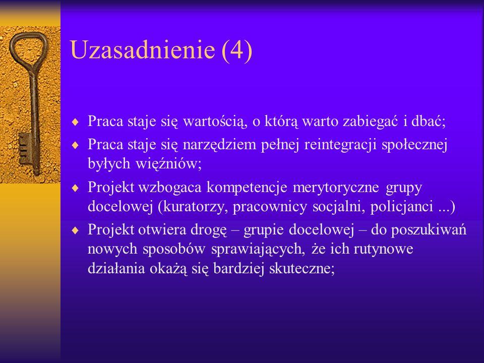 Uzasadnienie (4) Praca staje się wartością, o którą warto zabiegać i dbać;
