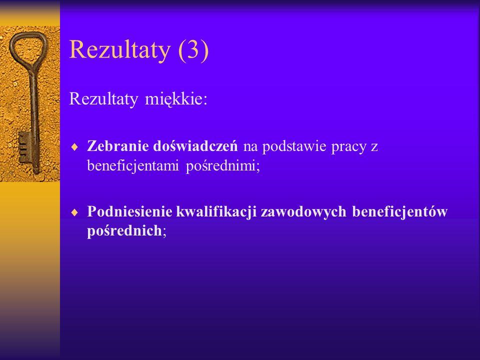 Rezultaty (3) Rezultaty miękkie: