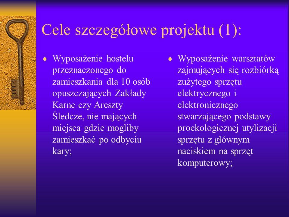 Cele szczegółowe projektu (1):