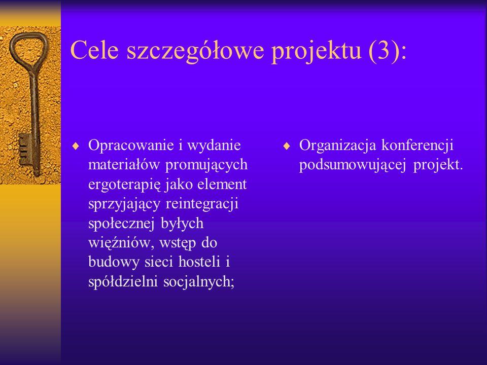 Cele szczegółowe projektu (3):