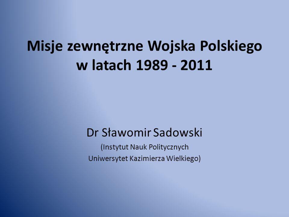 Misje zewnętrzne Wojska Polskiego w latach 1989 - 2011