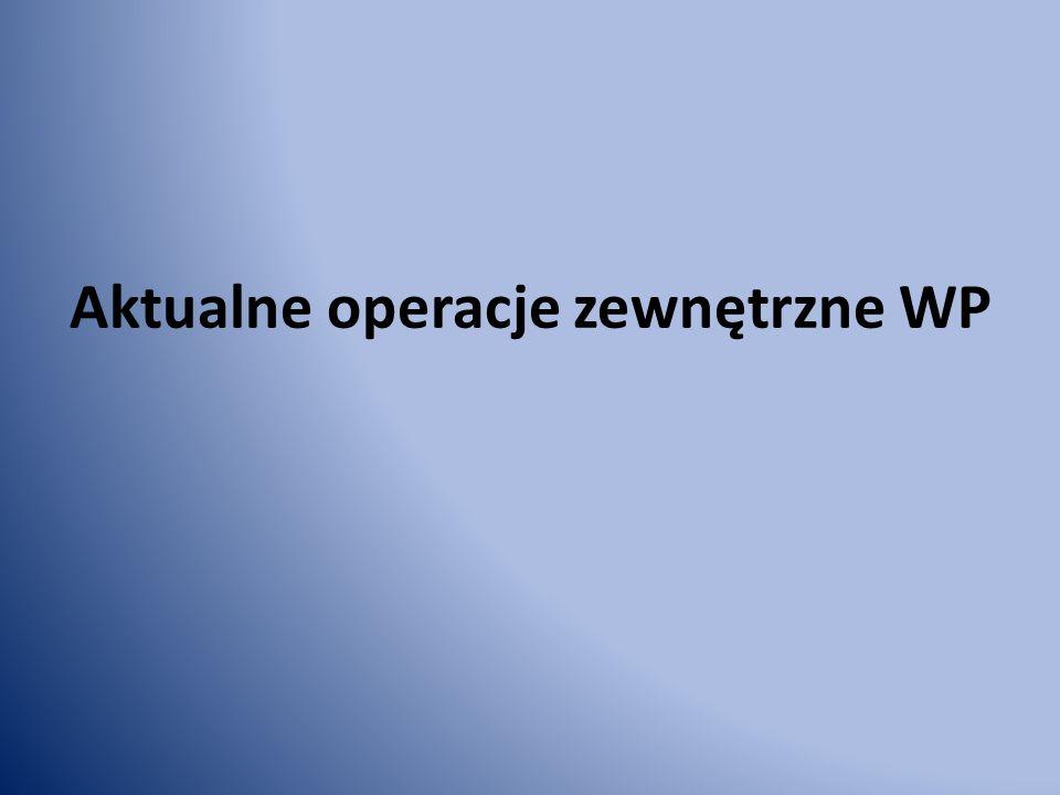 Aktualne operacje zewnętrzne WP