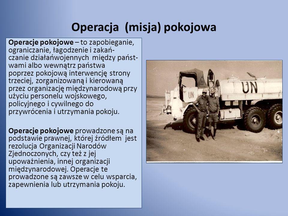 Operacja (misja) pokojowa