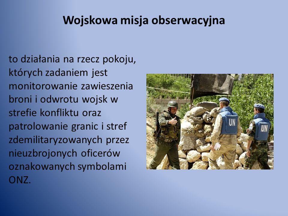 Wojskowa misja obserwacyjna