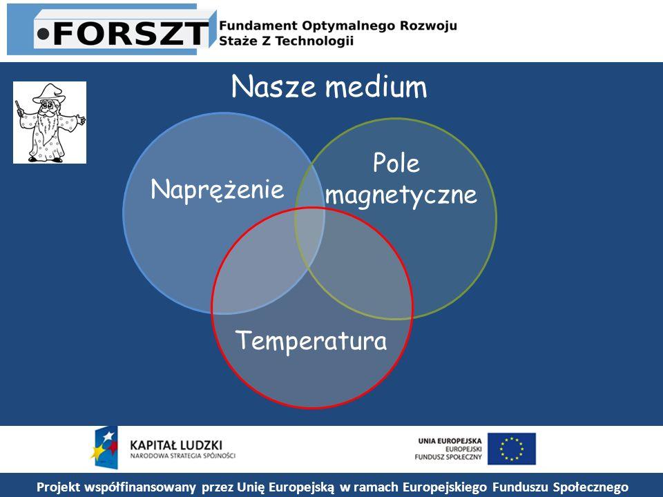 Nasze medium Pole magnetyczne Naprężenie Temperatura