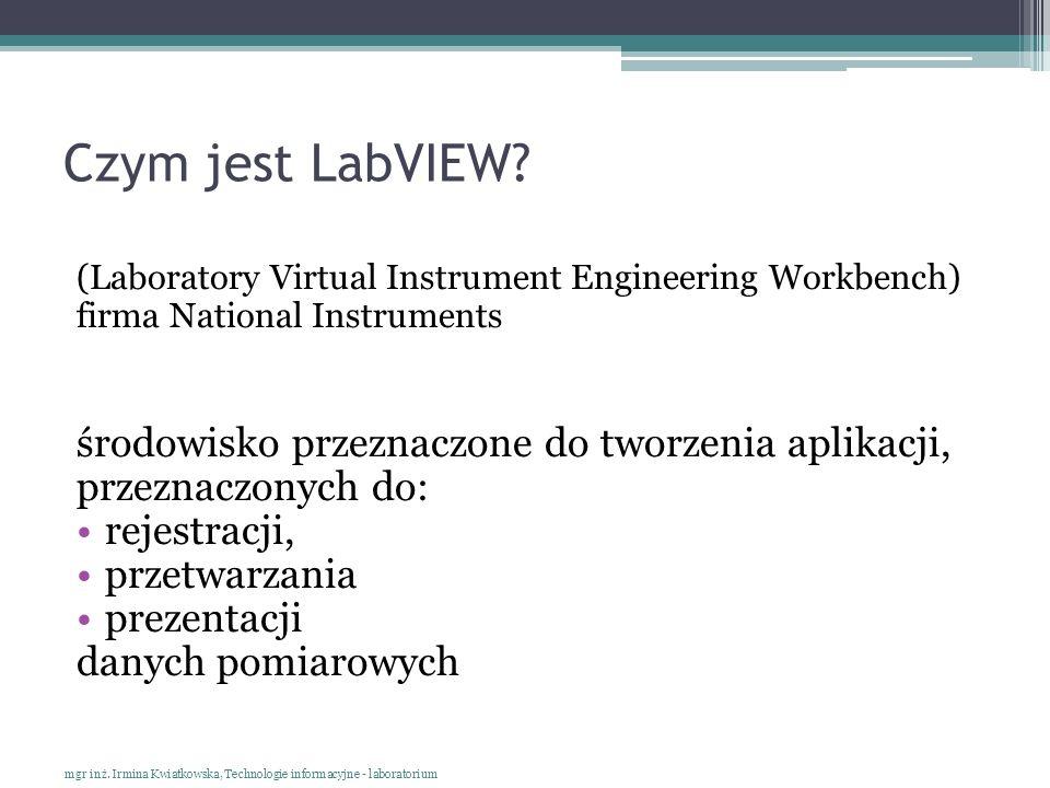 Czym jest LabVIEW środowisko przeznaczone do tworzenia aplikacji,